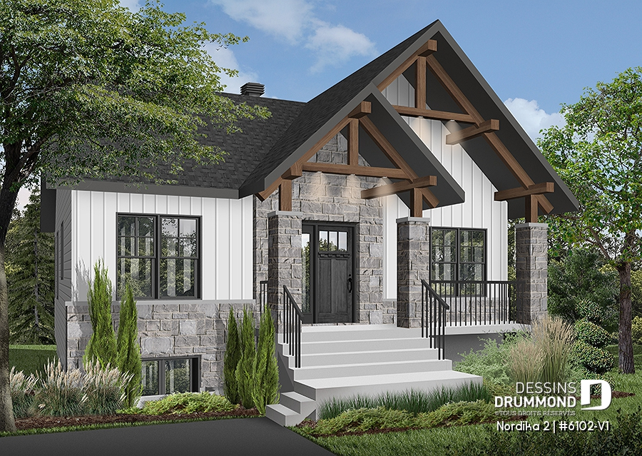 Plan Maison 6102 V1 Habitations Clermont
